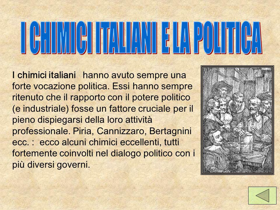 I CHIMICI ITALIANI E LA POLITICA