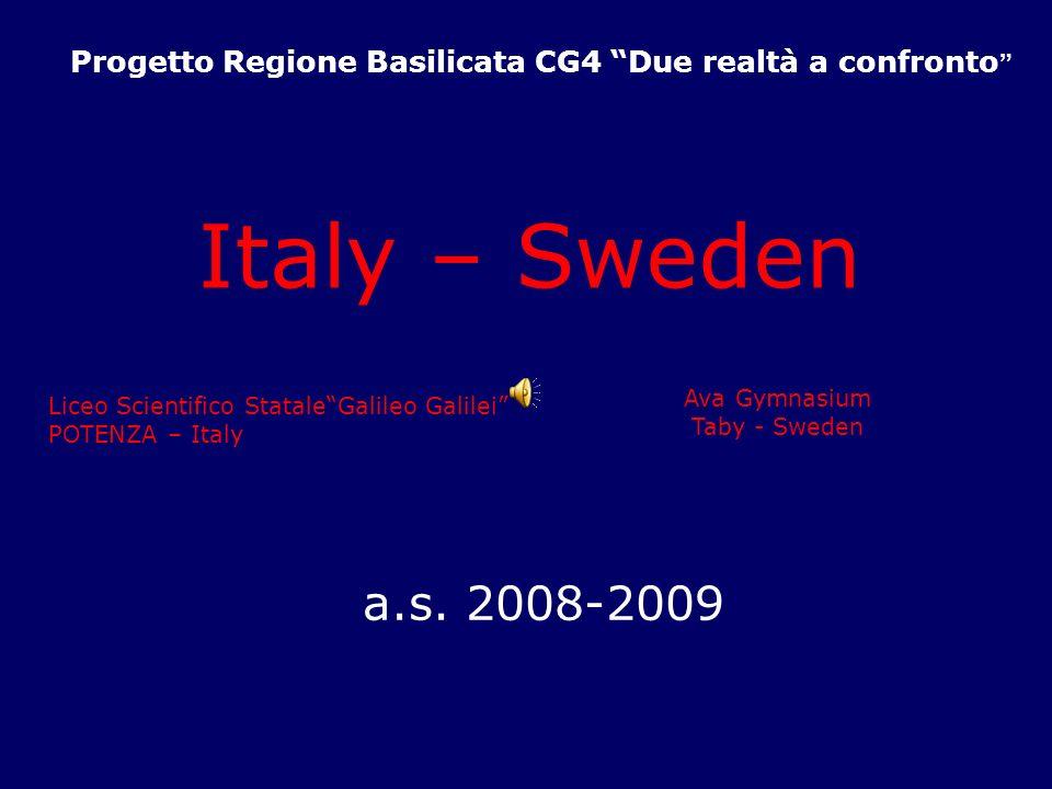 Progetto Regione Basilicata CG4 Due realtà a confronto