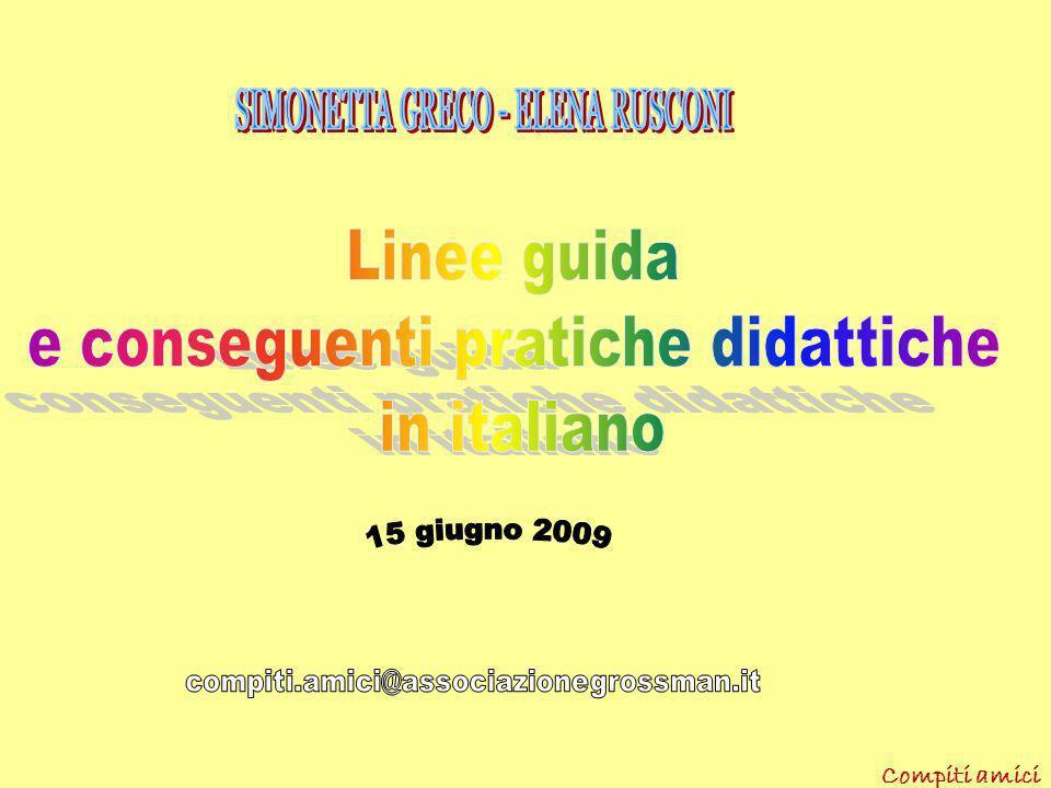 e conseguenti pratiche didattiche in italiano