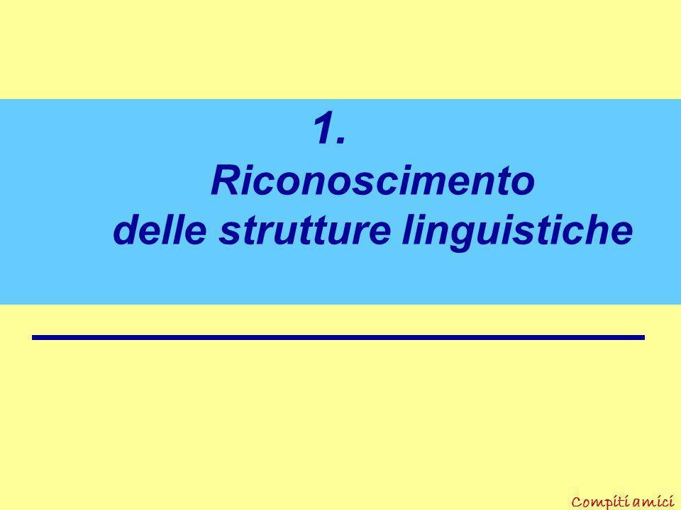 Riconoscimento delle strutture linguistiche