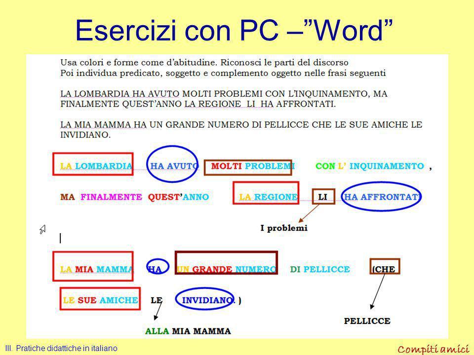 Esercizi con PC – Word