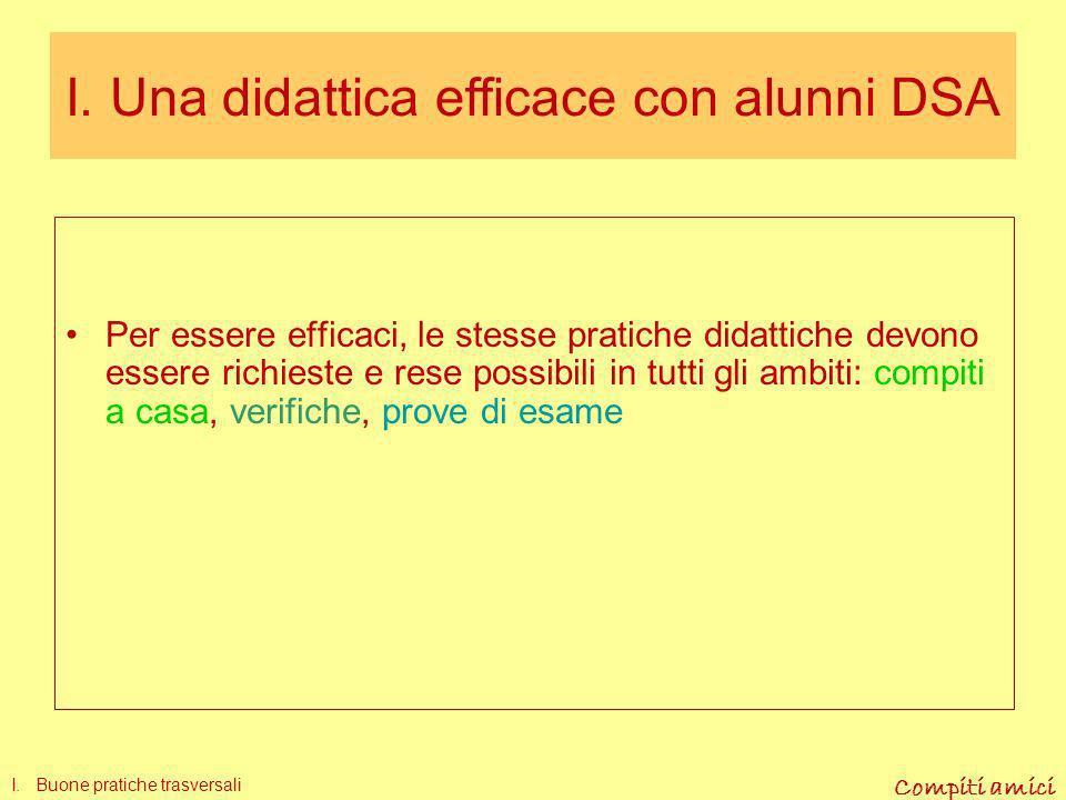 I. Una didattica efficace con alunni DSA