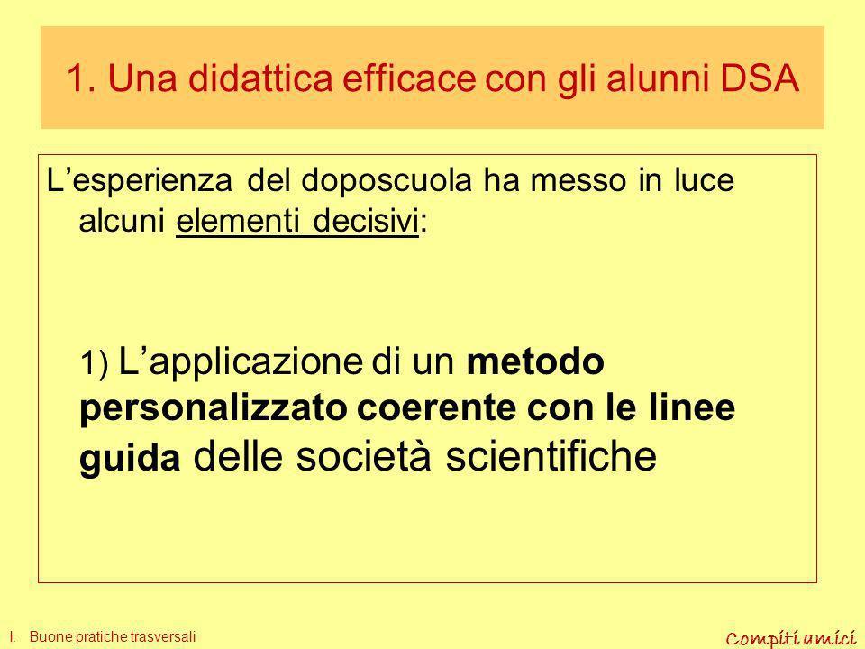 1. Una didattica efficace con gli alunni DSA