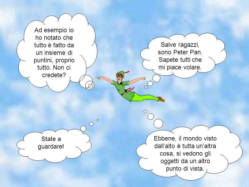 Salve ragazzi, sono Peter Pan. Sapete tutti che mi piace volare.