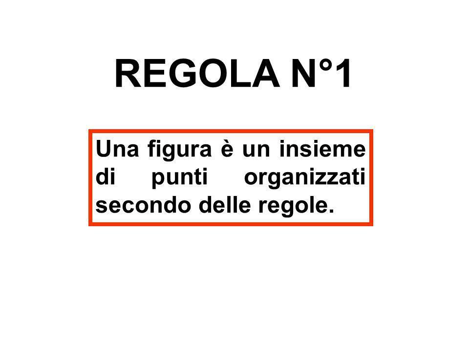 REGOLA N°1 Una figura è un insieme di punti organizzati secondo delle regole.