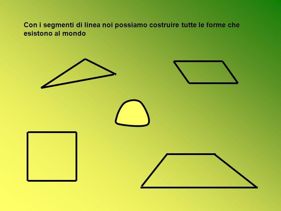Con i segmenti di linea noi possiamo costruire tutte le forme che esistono al mondo