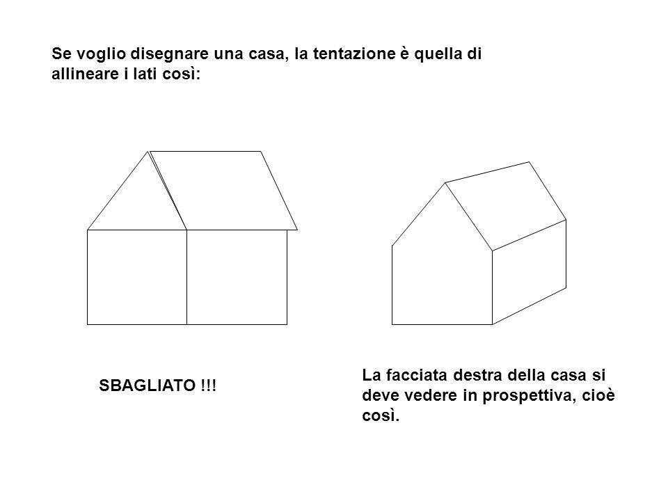 Se voglio disegnare una casa, la tentazione è quella di allineare i lati così: