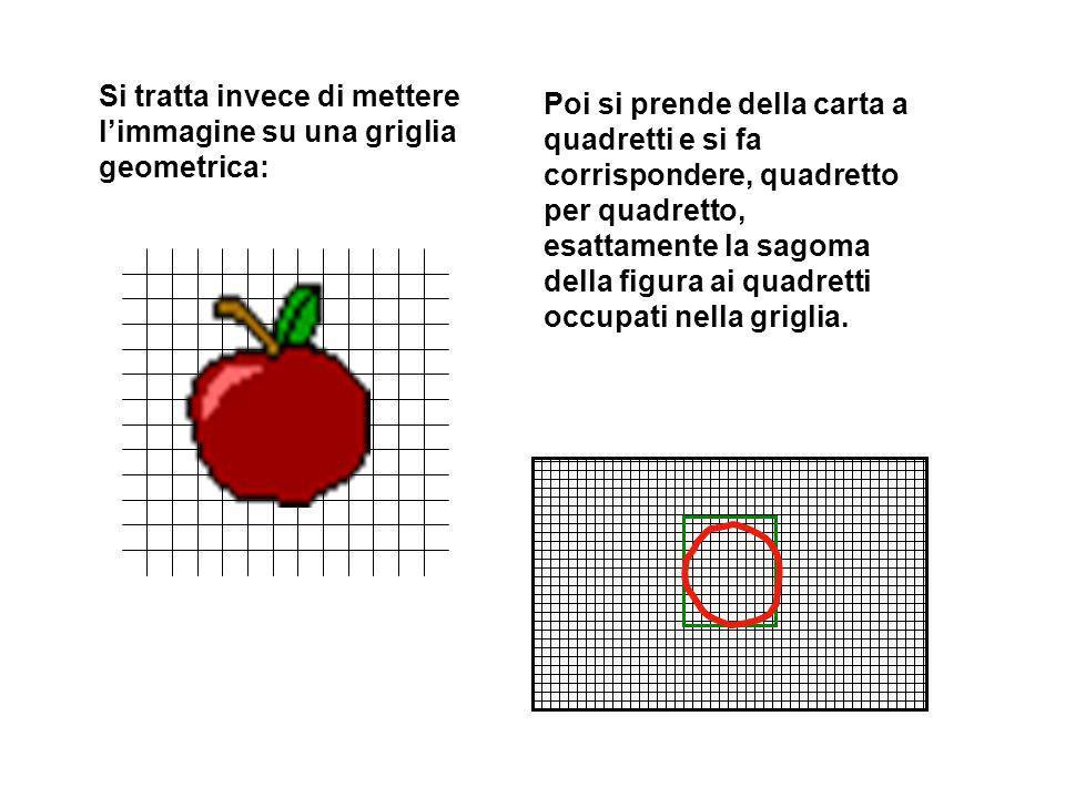 Si tratta invece di mettere l'immagine su una griglia geometrica: