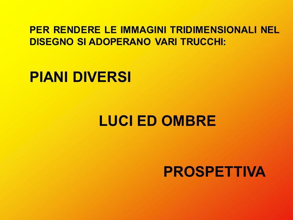 PIANI DIVERSI LUCI ED OMBRE PROSPETTIVA