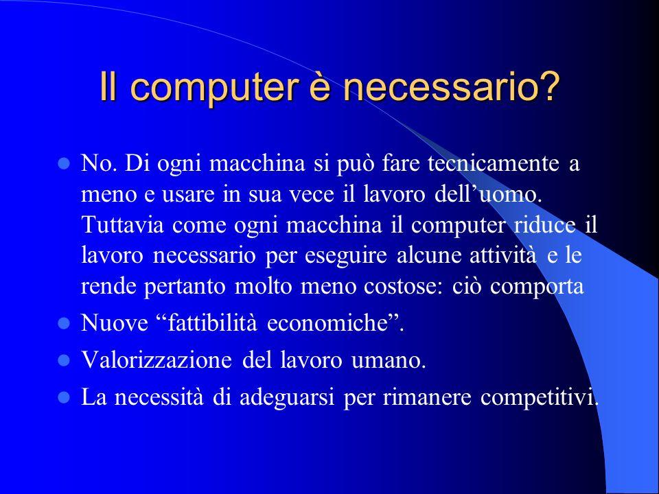 Il computer è necessario