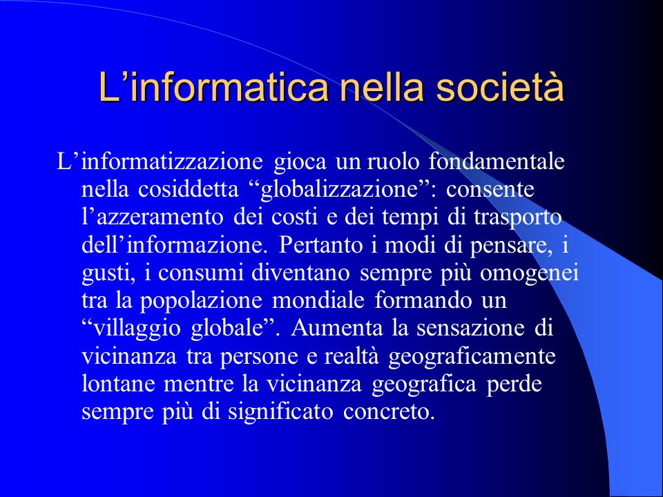 L'informatica nella società