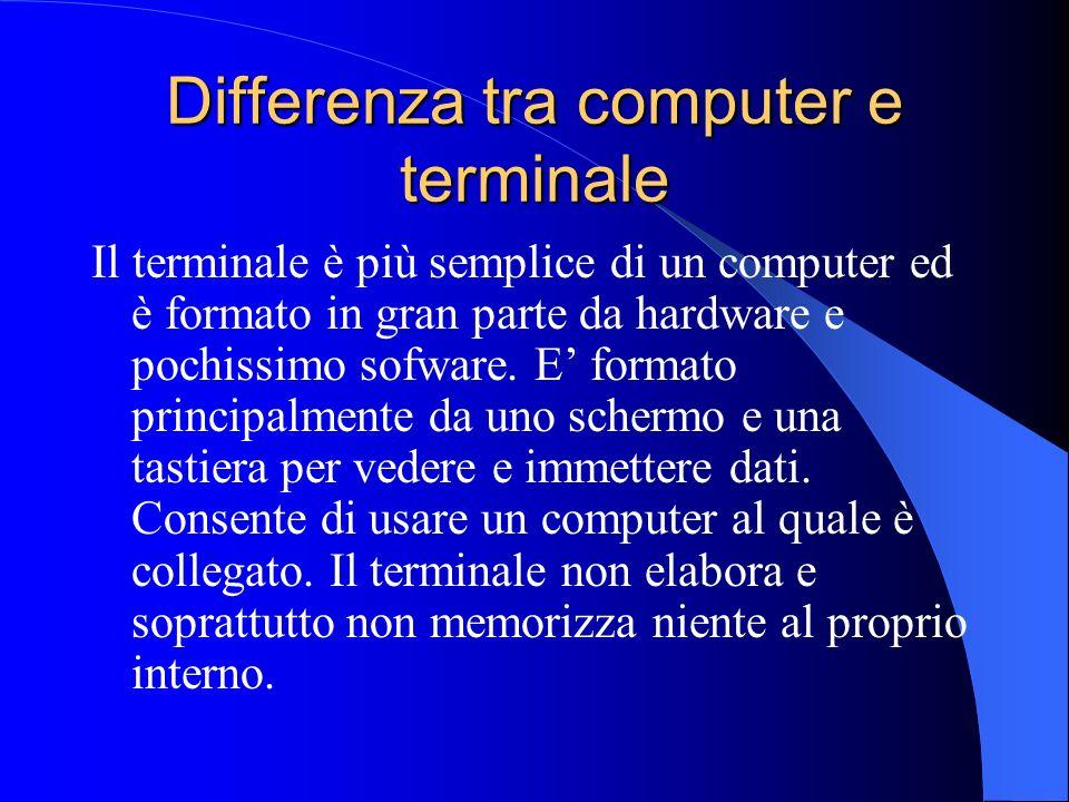 Differenza tra computer e terminale