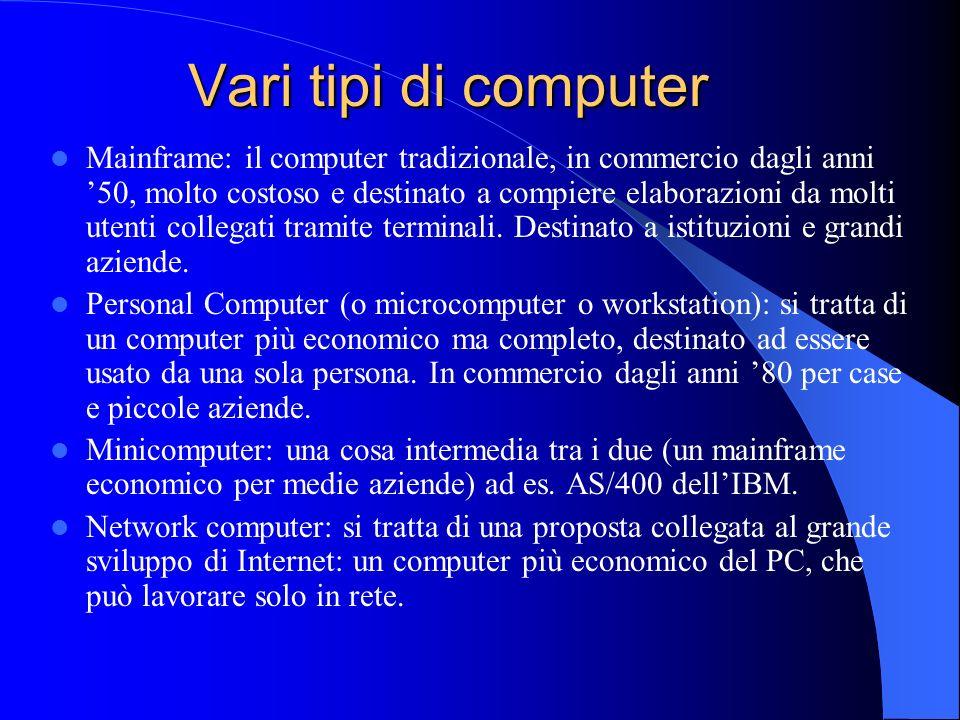 Vari tipi di computer