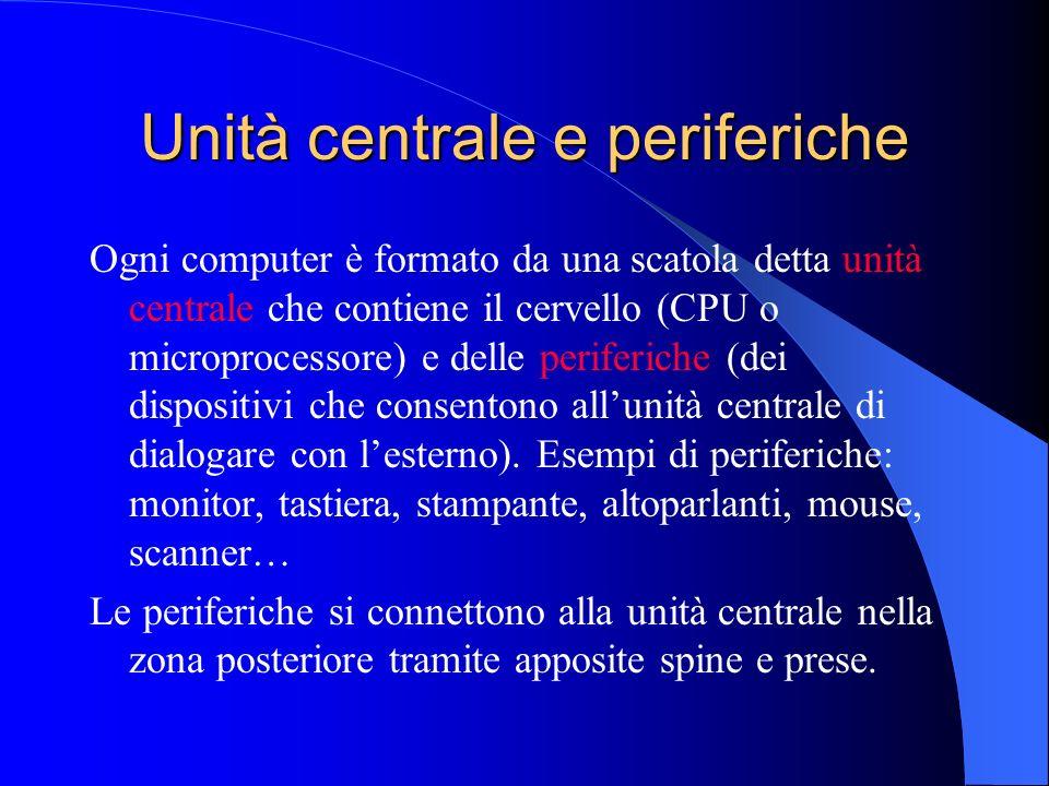 Unità centrale e periferiche