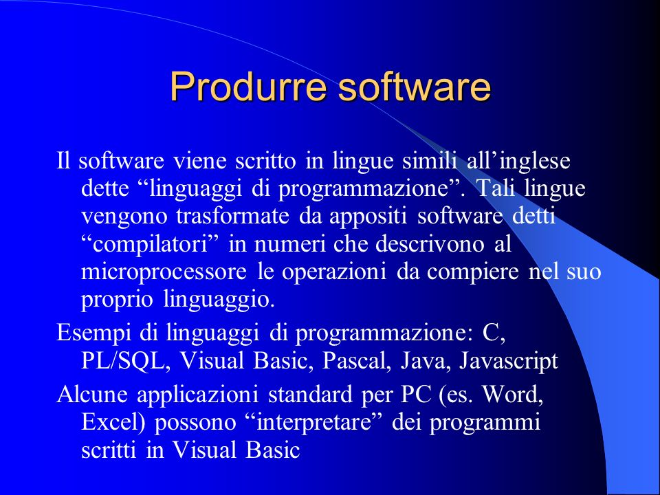 Produrre software