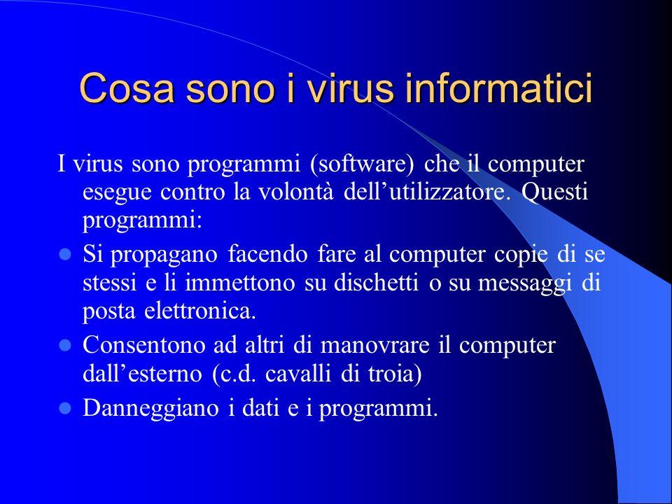 Cosa sono i virus informatici