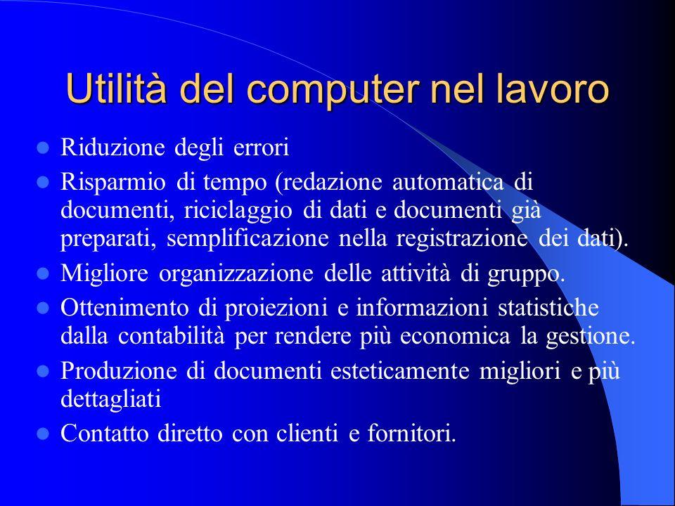 Utilità del computer nel lavoro