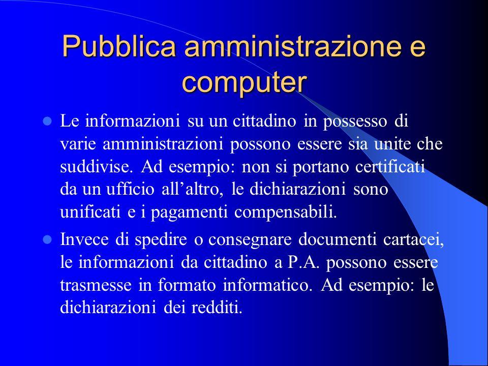 Pubblica amministrazione e computer
