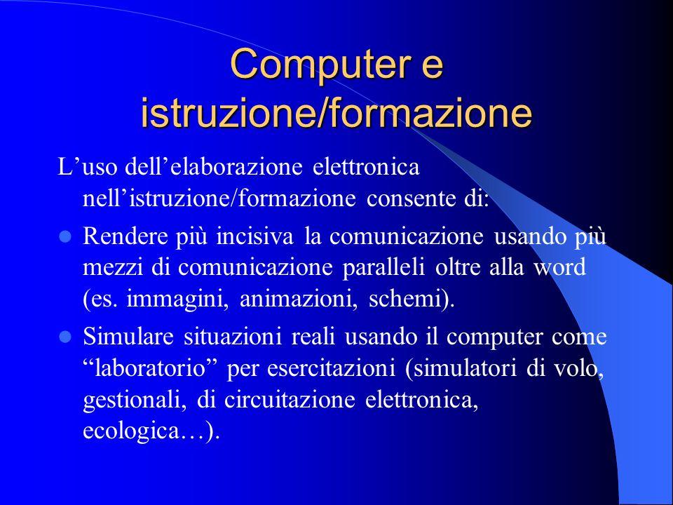 Computer e istruzione/formazione