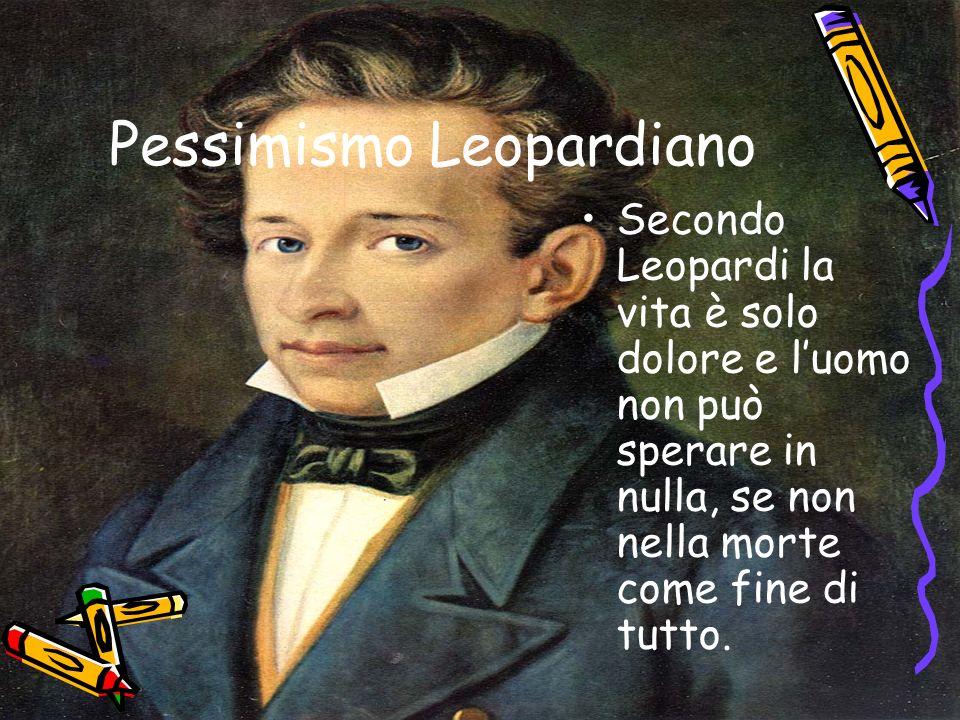 Pessimismo Leopardiano