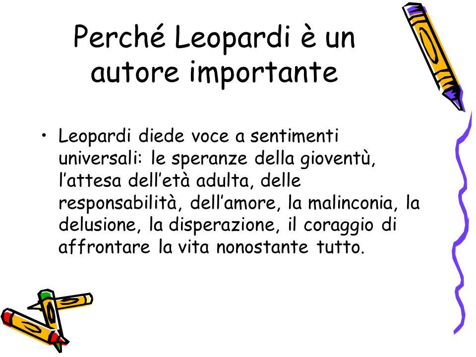 Perché Leopardi è un autore importante