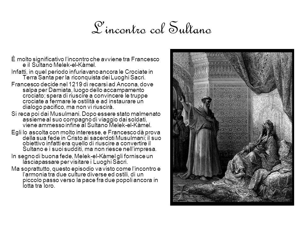 L'incontro col Sultano