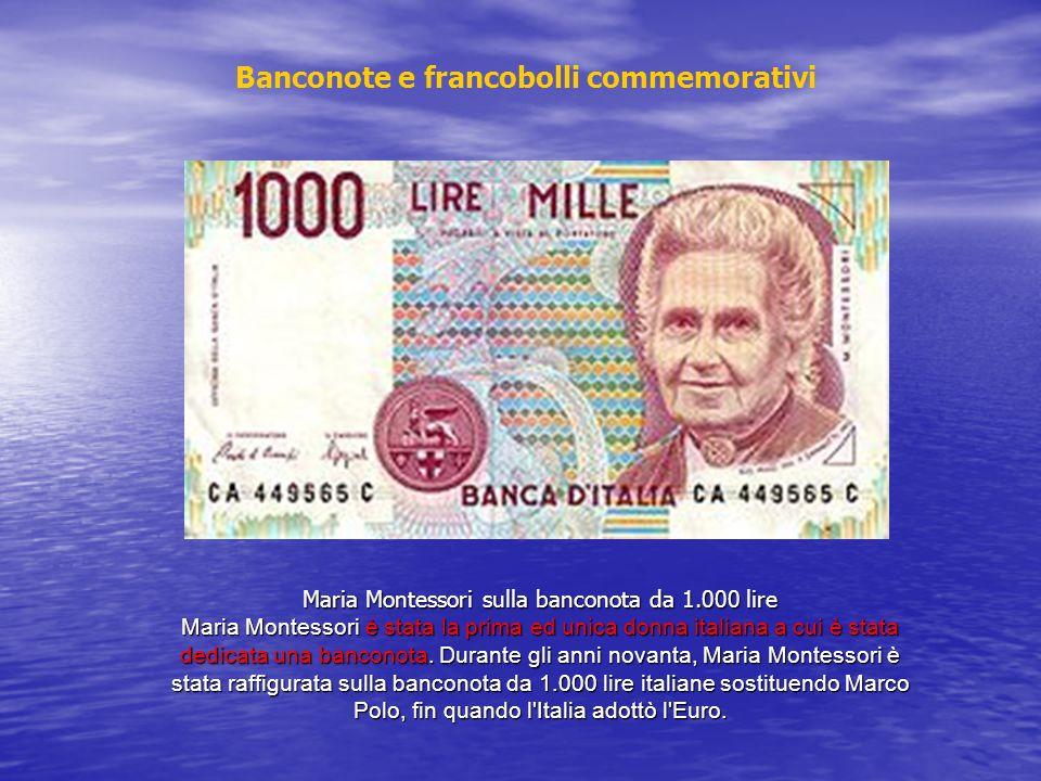 Maria Montessori sulla banconota da 1.000 lire