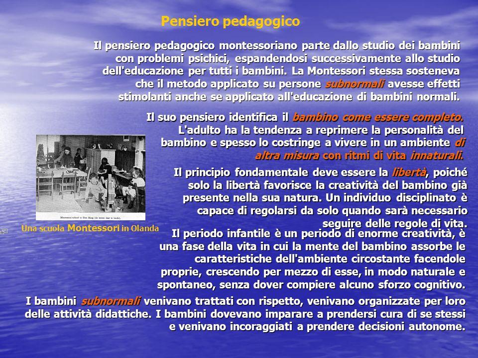 Pensiero pedagogico