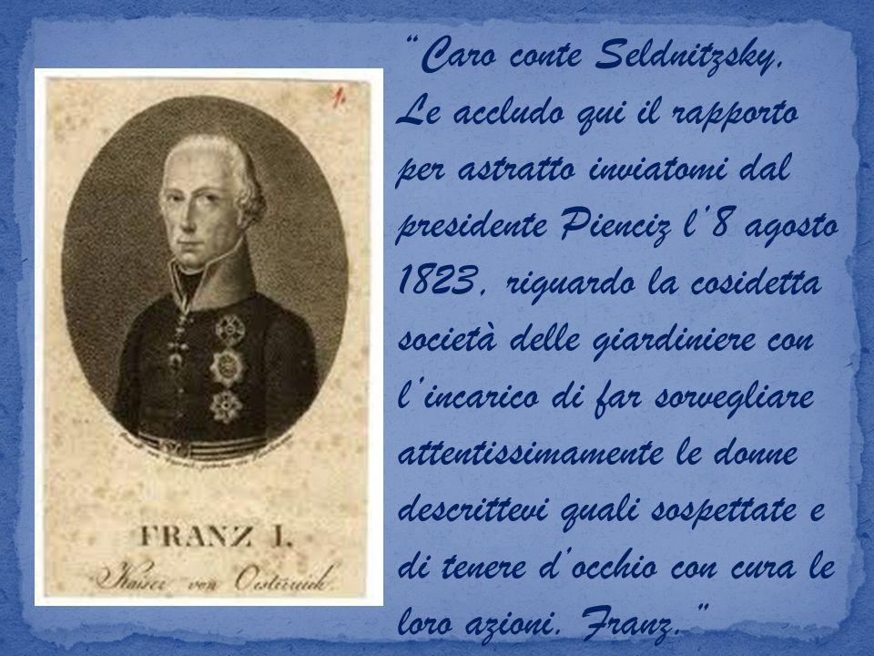 Caro conte Seldnitzsky,