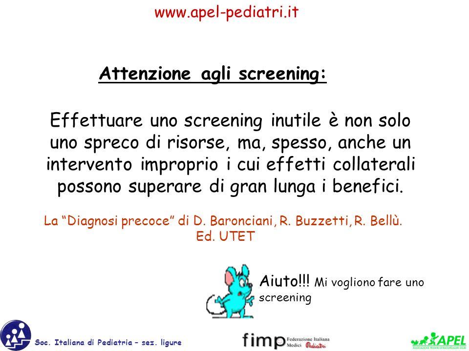 Attenzione agli screening: