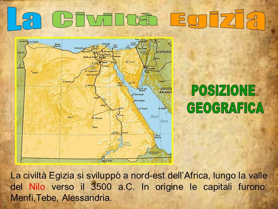 La Civiltà Egizia POSIZIONE. GEOGRAFICA.