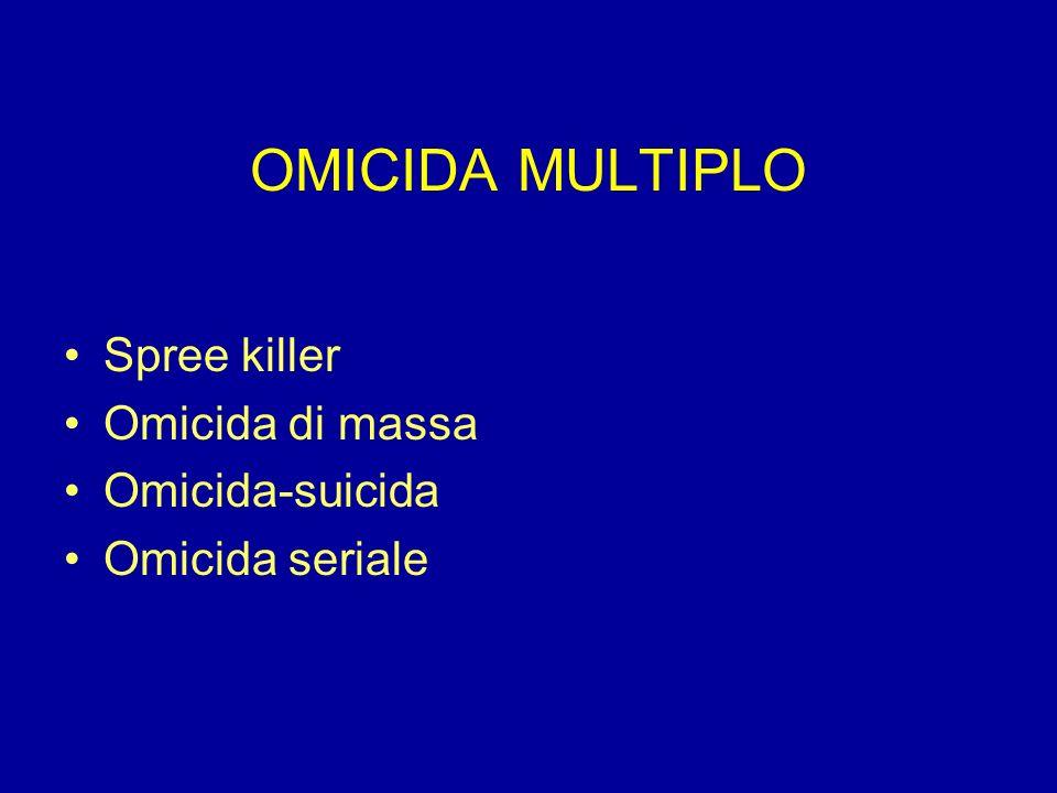 OMICIDA MULTIPLO Spree killer Omicida di massa Omicida-suicida