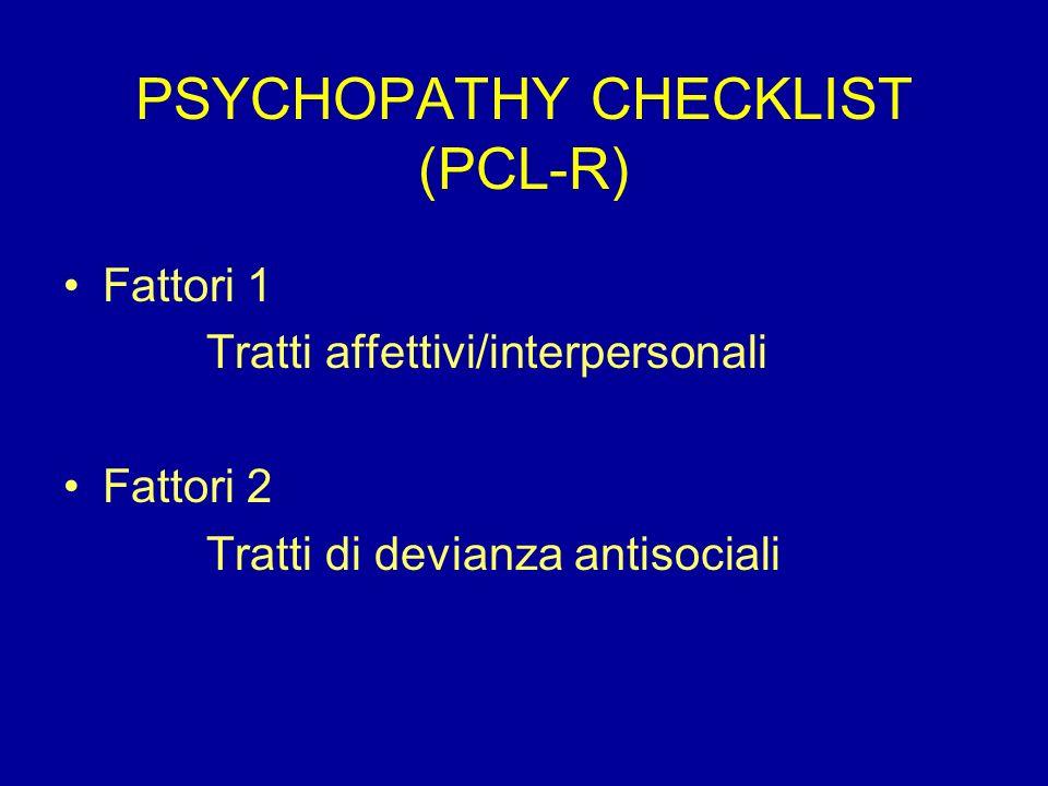 PSYCHOPATHY CHECKLIST (PCL-R)
