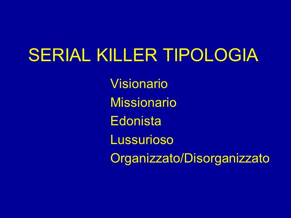 SERIAL KILLER TIPOLOGIA