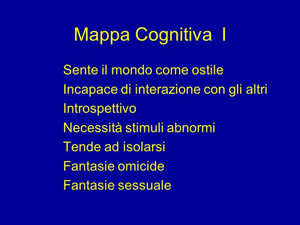 Mappa Cognitiva I Sente il mondo come ostile