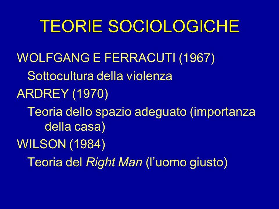 TEORIE SOCIOLOGICHE WOLFGANG E FERRACUTI (1967)