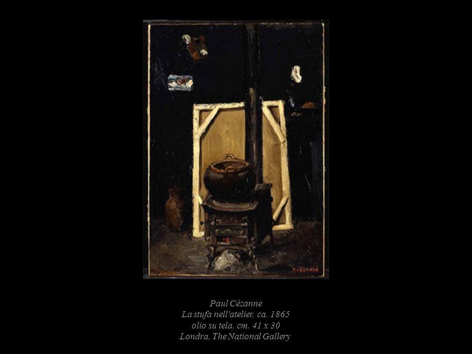 Paul Cézanne La stufa nell atelier, ca. 1865 olio su tela, cm