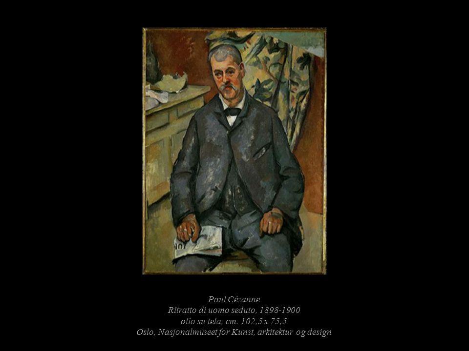Paul Cézanne Ritratto di uomo seduto, 1898-1900 olio su tela, cm