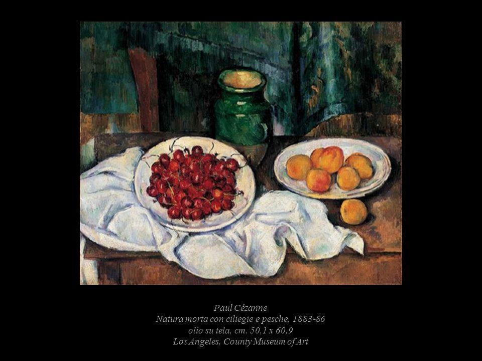 Paul Cézanne Natura morta con ciliegie e pesche, 1883-86 olio su tela, cm.