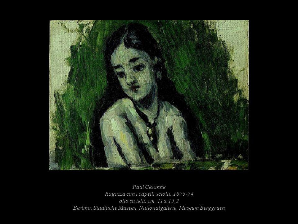 Paul Cézanne Ragazza con i capelli sciolti, 1873-74 olio su tela, cm