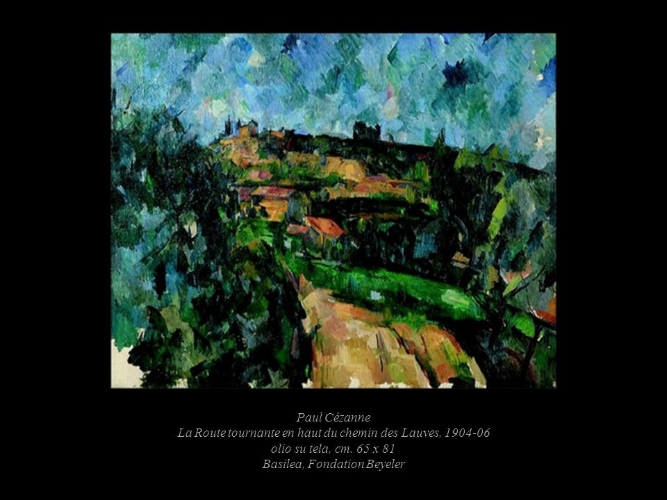 Paul Cézanne La Route tournante en haut du chemin des Lauves, 1904-06 olio su tela, cm.
