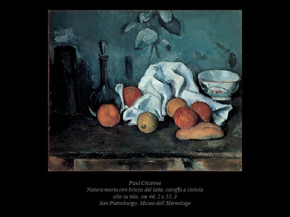 Paul Cézanne Natura morta con bricco del latte, caraffa e ciotola olio su tela, cm 46, 2 x 55, 3 San Pietroburgo, Museo dell'Hermitage