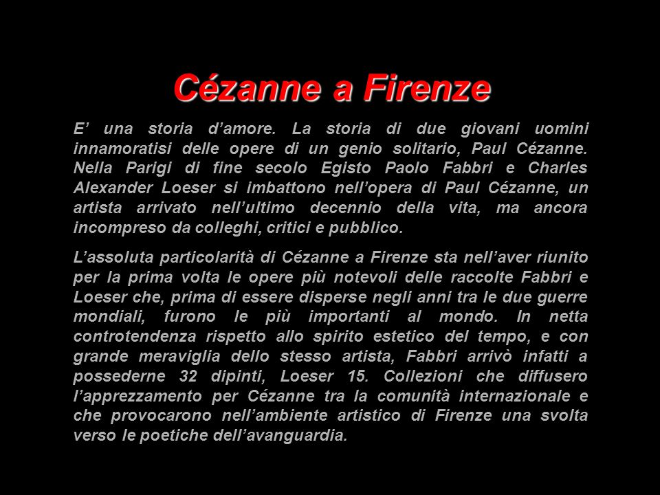 Cézanne a Firenze