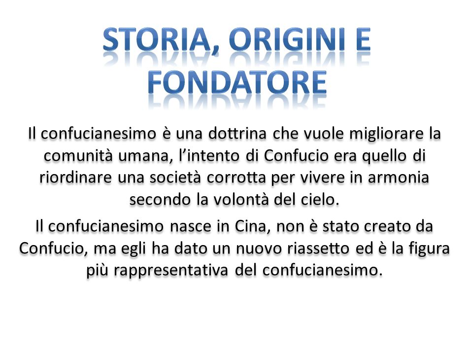 STORIA, ORIGINI E FONDATORE