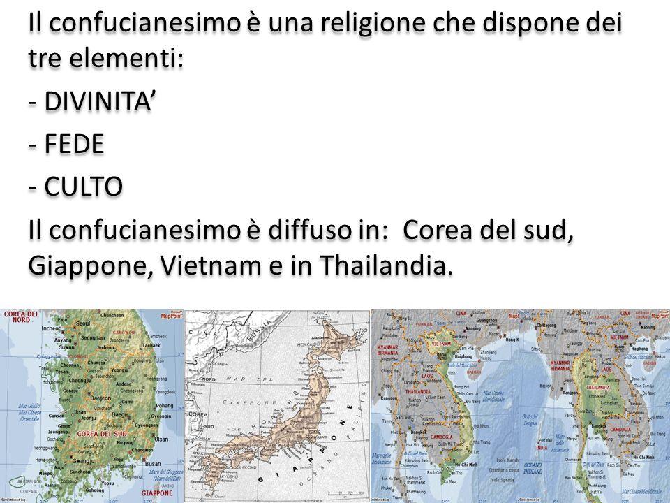Il confucianesimo è una religione che dispone dei tre elementi: