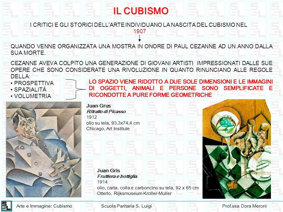 IL CUBISMO I CRITICI E GLI STORICI DELL'ARTE INDIVIDUANO LA NASCITA DEL CUBISMO NEL. 1907.