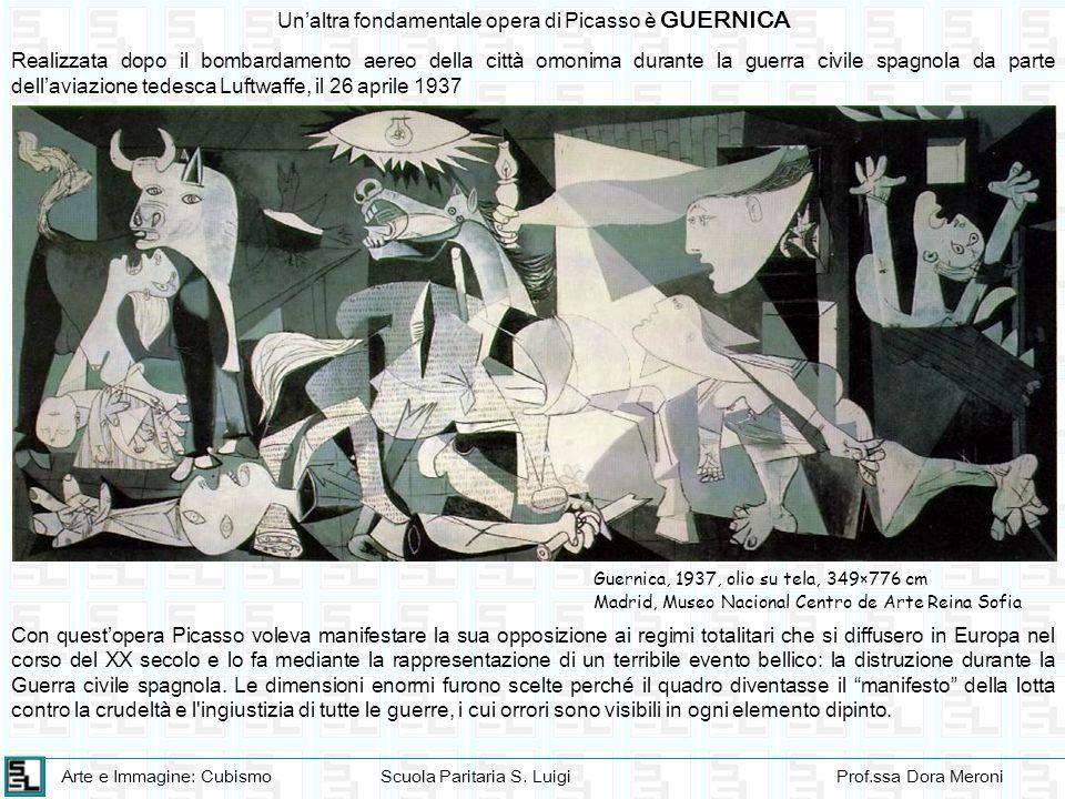 Un'altra fondamentale opera di Picasso è GUERNICA