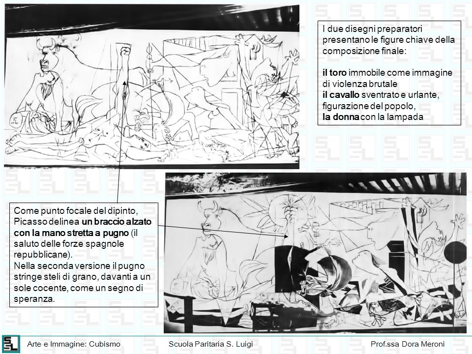 I due disegni preparatori presentano le figure chiave della composizione finale: