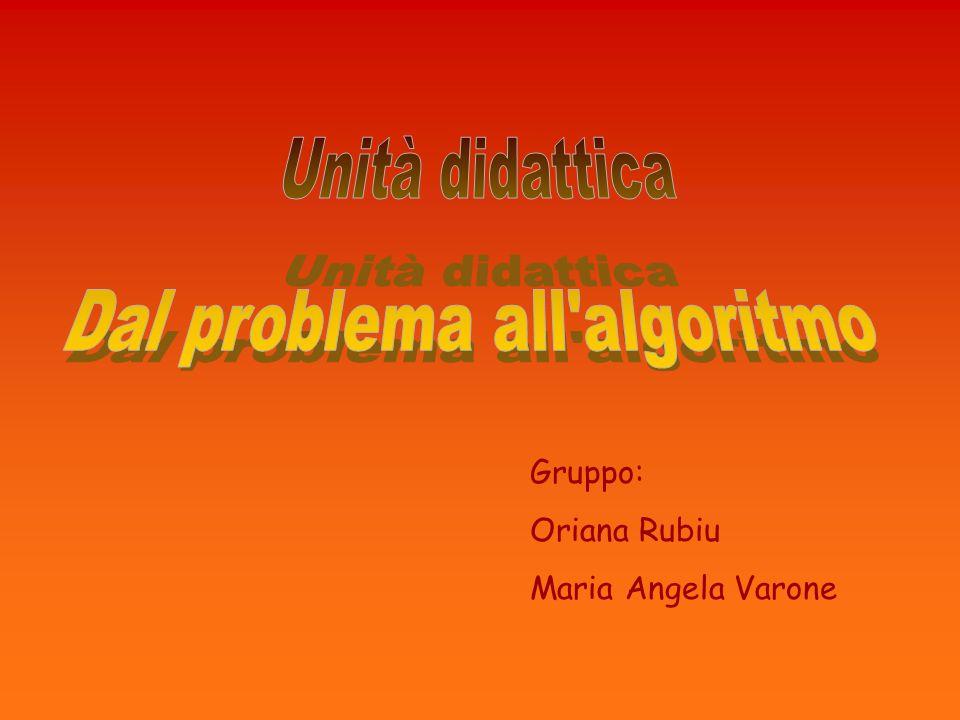 Dal problema all algoritmo