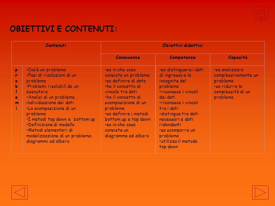 OBIETTIVI E CONTENUTI: